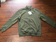 PUMA Jacket Size XL Mens Fleece Lined Army Green Full Zip up