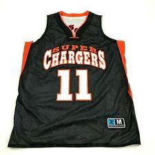 Super Chargers Basketball Jersey Size Medium M Black White REVERSIBLE Tank Top