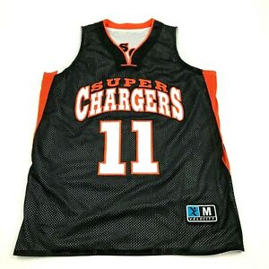 Super Chargers Basketball Jersey Taille M Noir Blanc Réversible Débardeur