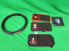 Betty Boop Car Kit Steering Wheel Wrap 3 Visor Cd Holders & a Mouse pad