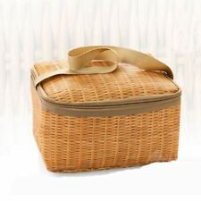 Bags Picnic Insulated Thermal Waterproof Lunch Bag Woven Imitation Rattan
