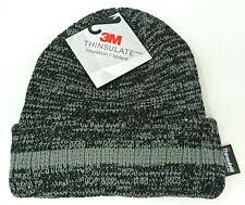 Cuff Beanie Skull Cap Winter Hat Fleece Lining Adult OSFM Gray Stripe NWT
