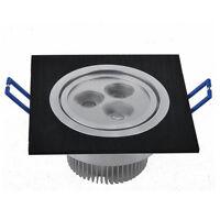 2X 3W LED Spot Encastrable Carré Eclairage Plafond Chambre Ampoule 220V Noir