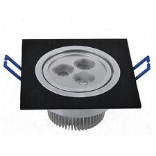 2 Pcs 3W LED Spot Encastrable Carré Eclairage Plafond Chambre Ampoule 220V Noir
