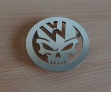 VW Volkswagen Custom Skull Emblem Bug Beetle Dune Buggy Hot Rod Metal Hood Badge