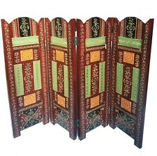 Wood Hand Painted Divider Shade Privacy Screen Wooden Partition