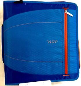 "Five Star 2"" Zipper Binder 530 Sheet Capacity blue grey pink black purple"