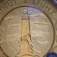 Minots Light Cohasset Scituate Lovers Lighthouse 1-4-3 Pairpoint Glass Cup Plate
