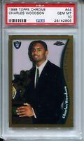 1998 Topps Chrome Football 44 Charles Woodson Rookie Card Graded PSA Gem Mint 10