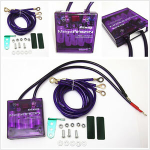 Universal Autos Voltage Stabilizer Regulator Car Engine Fuel Saver Grounding Kit