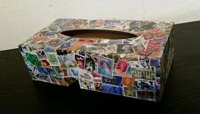 Stamps Tissue Box Cover