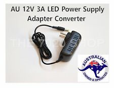 AU 2 Pin Plug to DC 12V 3A Power Supply Adapter Charger for LED Strips Light