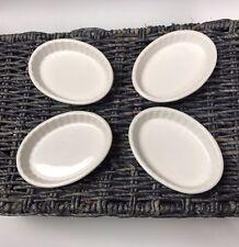 Lot Set Of 4 Tuxton BWK-0502 China Oval Fluted Creme Brulee Dish, 5oz