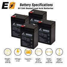 6V 5Ah Emergency Exit Lighting SLA Battery - PACK OF 4 BATTERIES