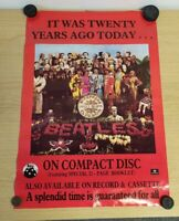Vintage The Beatles - Sgt. Pepper 20th Anniversary poster - 1987 60cm x 40cm CD