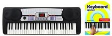 Super Keyboard mit 54 Tasten & Demofunktion, für Beginner inkl. Notenheft, Black