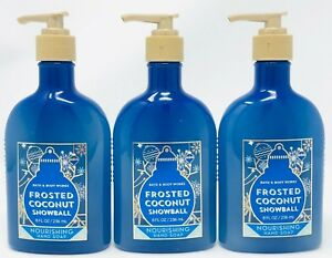 Frosted Coconut Snowball Bath & Body Works Nourishing Hand Soap 8 oz set of 3