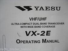 YAESU VX-2E (GENUINE OPERATING MANUAL ONLY).............RADIO_TRADER_IRELAND.