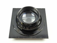 "VINTAGE AIR MINISTRY ANASTIGMAT 8"" F5.6 LARGE FORMAT LENS ON BOARD ROSS COOKE 03"