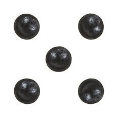 Miyuki Cotton Pearls (8mm) Round Beads Black Pack of 5 (M22/5)