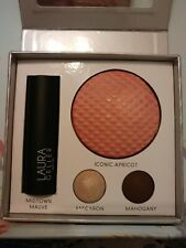 Laura Geller Iconic Beauty Palette Kit Blush Eyeshadow Lipstick New in Box 4 pcs