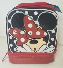 Disney Minnie Mouse School Lunch Bag Dual Compartment Insulated NEW  With Tag