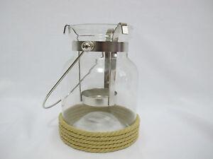 Bath & Body Works Glass Handle Lantern Nautica Rope Mini Candle Holder FREE SHIP