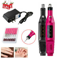 Electric Nail Drill File Acrylic Art Manicure Pedicure Portable Machine Kit Tool