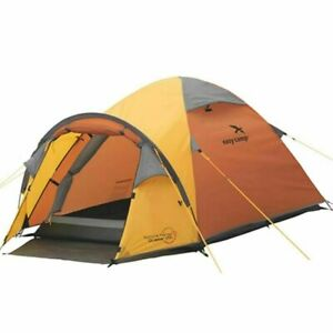 Easy Camp Spirit 200 Outdoor Tent Travel Camping for 2 Persons Waterproof Orange