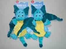 Set of 2 BarkBox - Dingbert the Dragon Dog Toys Crinkles & Squeaks for Thrashers