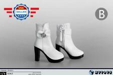 1/6 WHITE Ankle Boots Shoes HOLLOW for CUSTOM 12'' Female Figure Accessory