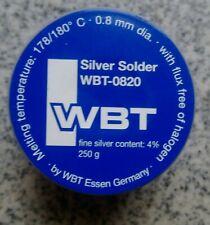 WBT 0820 4% silver 250g premium grade audio solder from WBT Germany