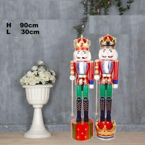 2 Soldato Schiaccianoci di Natale in Legno Altezza 95 cm Decorazioni Natalizie