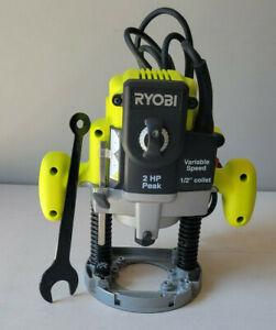 RYOBI 10 Amp 2 HP Plunge Base Router RE180PL1G *Used*