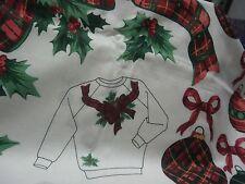 CHRISTMAS PLAID APPLIQUES BEARS,ORNAMENTS,RIBBON