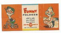 Vintage 1949 Topps Funny Foldees #40 Biker, Beach Girl, Swan