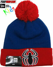 Spiderman Marvel Comics New Era Kids Cuff Knit Bobble Hat (Age 4 - 10 years)