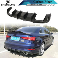 Carbon Diffusor Heckdiffusor Heckschürze für Audi S3 A3 SLINE Heckansatz Spoiler