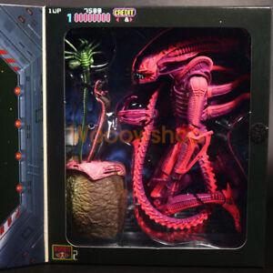 "NECA Aliens Pink Xenomorph Warrior Arcade Game Apprearance 7"" Action Figure New"
