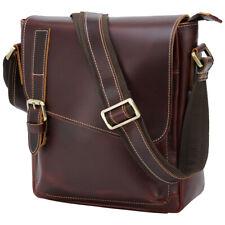 Men Genuine Leather Office Shoulder Bag Business Messenger Crossbody Bag Satchel