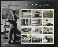 US Scott #5212, Miniature Sheet 2017 Andrew Wyeth VF MNH