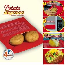 Potato Express Microwave 4 Minutes Fast Cooker Reusable Bag As seen on TV