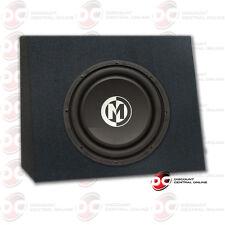 "Memphis 10"" Dual 4-Ohm Car Audio Dvc Subwoofer 500 Watts Max Plus Angled Sub Box"