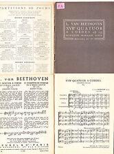 L.Van Beethoven XVII eme Quatuor à Cordes op 133 partition de poche