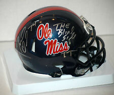 Michael Oher Signed Ole Miss mini Speed Helmet COA Holo The Blind Side Movie