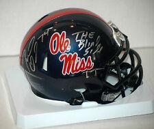 Michael Oher Signed Ole Miss mini Speed Helmet COA Holograms The Blind Side Insc