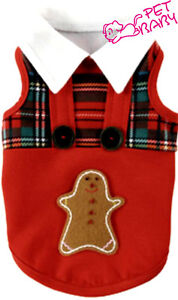 Pet Dog Clothes Gingerbread Cookies Back to School Outfit Shirt Casual Appeal