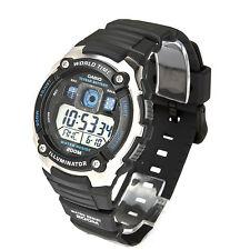 Casio World Time Rubber Digital 200M Sports Alarm Men's Watch AE-2000W-1A