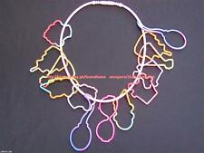 AMAZINGLY CUTE! BANDIT-O'S GLOW IN THE DARK NEON PINK NECKLACE #4 BRAND NEW