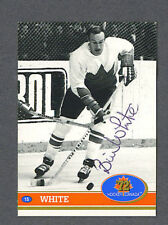 Bill White signed 1972 Canada Cup hockey card